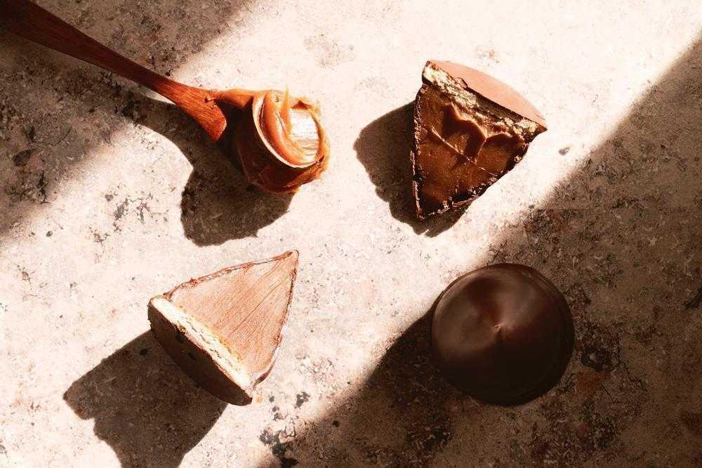 Bocadito de chocolate y dulce de leche